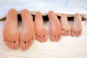 photo of family feet
